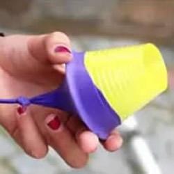 弹弹发射器手工小制作 幼儿弹射玩具制作图片