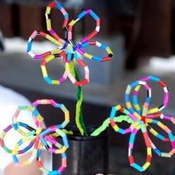 用吸管做花的图解教程 幼儿吸管花手工制作
