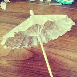 DIY油纸伞制作教程 迷你油纸伞的折叠图解
