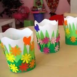 一次性纸杯制作花盆 幼儿纸杯花盆的做法教程