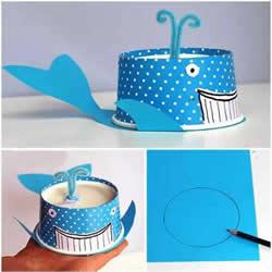 一次性纸杯做鲸鱼的方法 幼儿园鲸鱼手工