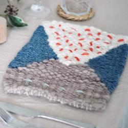棉线手工编织杯垫图解 温暖系杯垫的编法教程