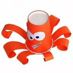 幼儿园小章鱼手工制作 一次性纸杯做章鱼