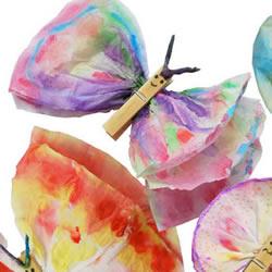 幼儿园蝴蝶手工制作 简单木夹子做蝴蝶图解