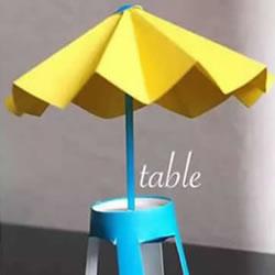 幼儿沙滩遮阳伞制作 简单手工沙滩遮阳伞做法