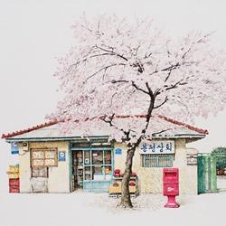 人情味是非卖品!韩国艺术家二十年的柑仔店画作