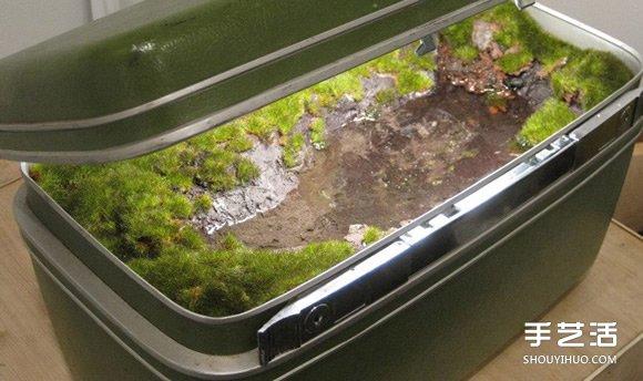 山水與它們的產地?將風景裝進舊的行李箱