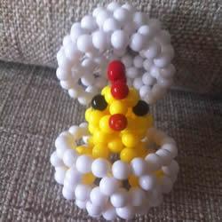 串珠手工艺品制作教程:孵化的小鸡