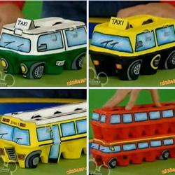 鸡蛋盒废物利用手工制作巴士汽车的方法