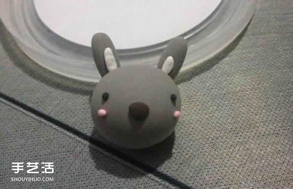 超輕粘土製作灰兔子 DIY萌兔子粘土手工教程