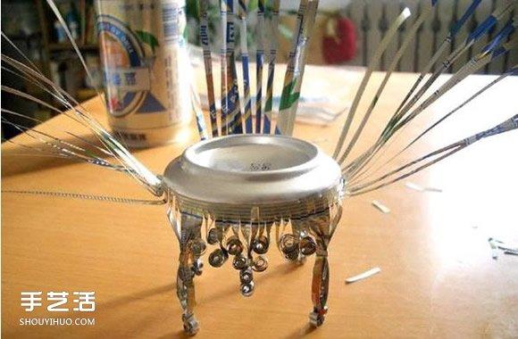 用烟盒做工艺品详细图解_易拉罐椅子制作图解 怎么用易拉罐做椅子步骤_手艺活网