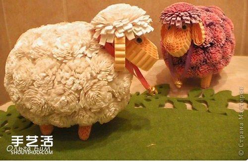 衍纸绵羊的制作方法 立体绵羊卷纸图解教程 -  www.shouyihuo.com