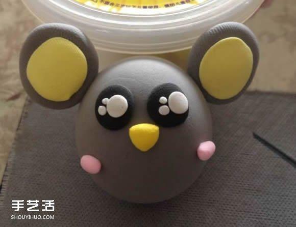 超輕粘土小老鼠DIY 用粘土做小老鼠圖片教程