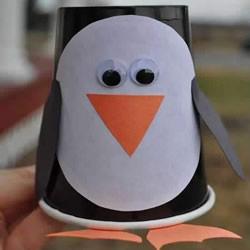 简易纸杯企鹅的制作方法 用纸杯做企鹅的