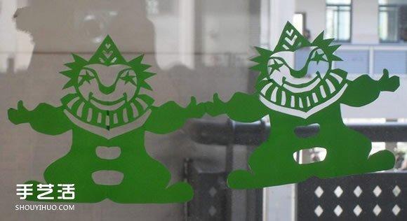 兒童窗花剪紙圖案欣賞 簡單春節窗花剪紙圖片
