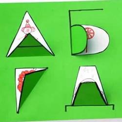 英文字母和数字的刻纸教程 可做成贺卡或