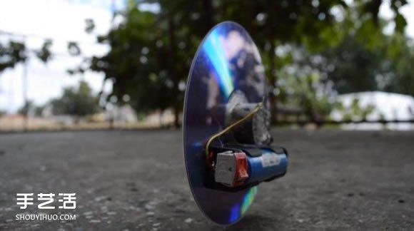 小发明:用硬盘碟片和光盘制作反重力小玩具 -  www.shouyihuo.com