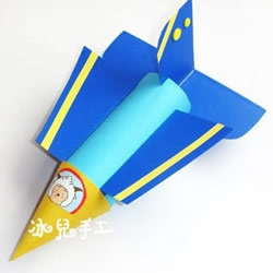 简单飞机模型制作过程 卫生纸筒手工制作飞机