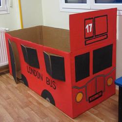 纸箱汽车手工制作教程 纸箱汽车制作图片步骤