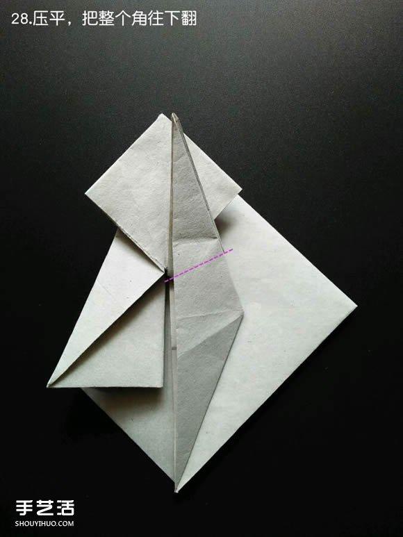 狐狸毛_超复杂折纸鲨鱼图解 立体鲨鱼的折法详细步骤(3)_手艺活网
