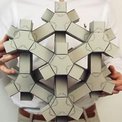 """无穷无尽的变形!3D纸拼图的""""超材料"""""""