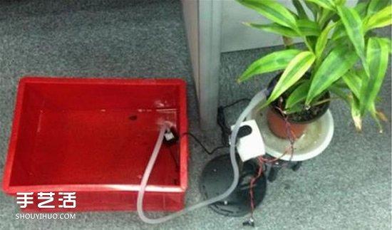 自動澆花系統原理圖 自動澆花器原理小發明