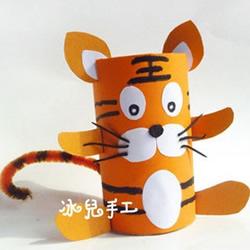 幼儿园老虎手工制作教程 卷纸筒老虎怎么