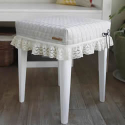 梳妆台椅凳改造DIY 上漆再做个椅子套超完美