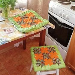 风车图案凳子垫子制作方法 拼布风凳子垫子DIY