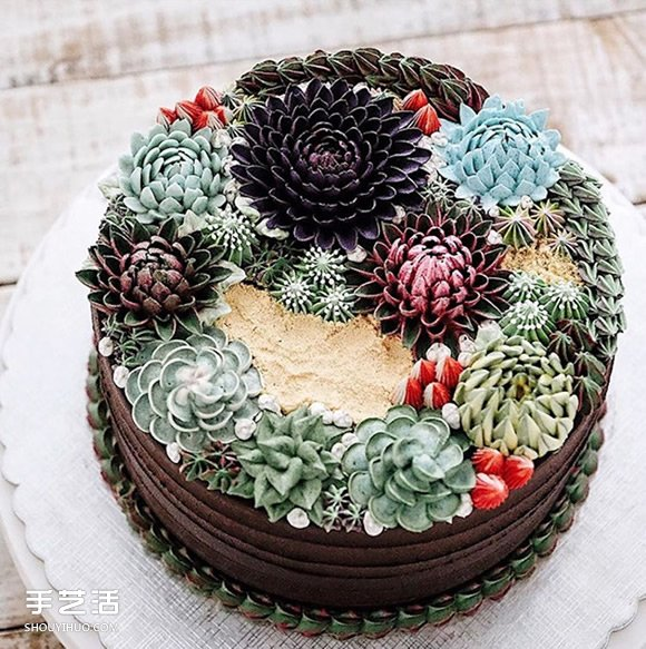 小心有刺!栩栩如生的多肉植物蛋糕出炉咯~ - www.shouyihuo.com