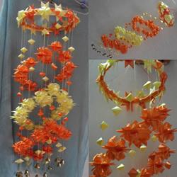 彩带风铃制作图解:星星/丝星蝶/圆环圈/灯笼