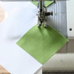 对角线车缝的小技巧 不织布车缝直线条的