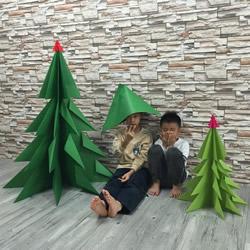 自制大圣诞树的方法 手工折纸大型圣诞树图解