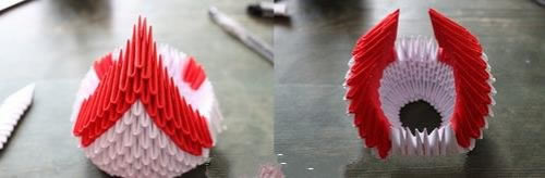 三角插天鹅教程 三角插手工艺品天鹅的做法 -  www.shouyihuo.com