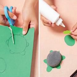 幼儿园乌龟手工小制作 鹅卵石做乌龟的教程