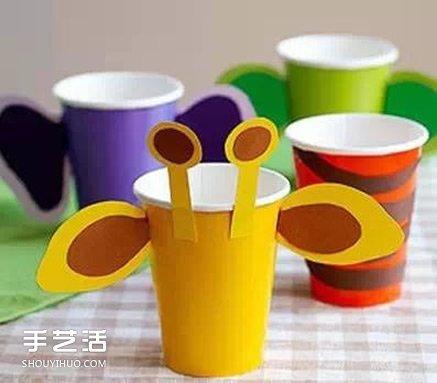 幼儿园手工卡纸鱼_纸杯小动物手工制作 纸杯手工制作大全动物_手艺活网