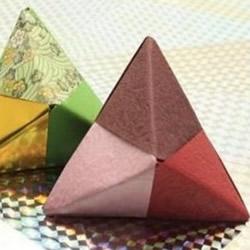 端午节纸粽子制作方法 手工折纸粽子步骤图