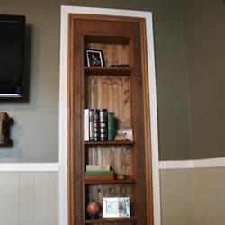 自制隐藏门的制作方法 伪装成书架的浴室门DIY