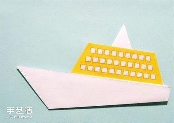 幼儿园折纸船视频_简单折纸轮船的过程 幼儿园折小船的教程_手艺活网