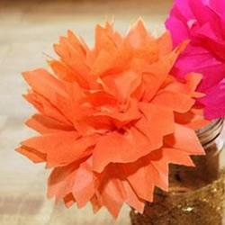 母亲节手工纸花的做法 幼儿园皱纹纸花制作