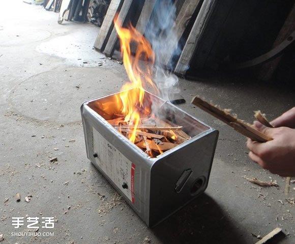 如何自製燒烤爐圖解 簡易木炭燒烤爐製作方法