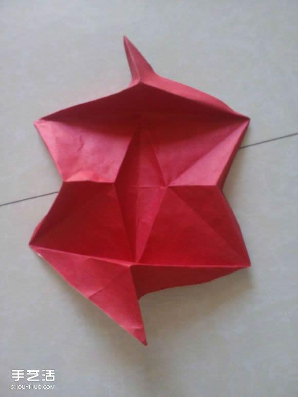 如何折纸立体的狐狸 手工狐狸的折纸方法图解 -  www.shouyihuo.com