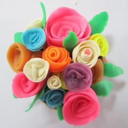 橡皮泥玫瑰花的做法 橡皮泥制作玫瑰图解教程