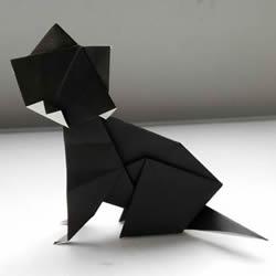 可爱立体折纸猫图解 手工猫的折纸方法步