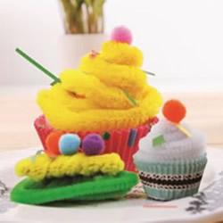 扭扭棒手工制作蛋糕 幼儿手工蛋糕模型怎