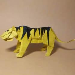 中村枫虎的折纸教程 详细立体老虎的折纸图解
