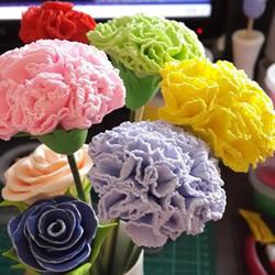 母亲节康乃馨花制作 橡皮泥做康乃馨的教程