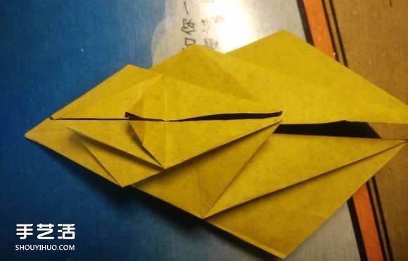 中村楓虎的摺紙教程 詳細立體老虎的摺紙圖解