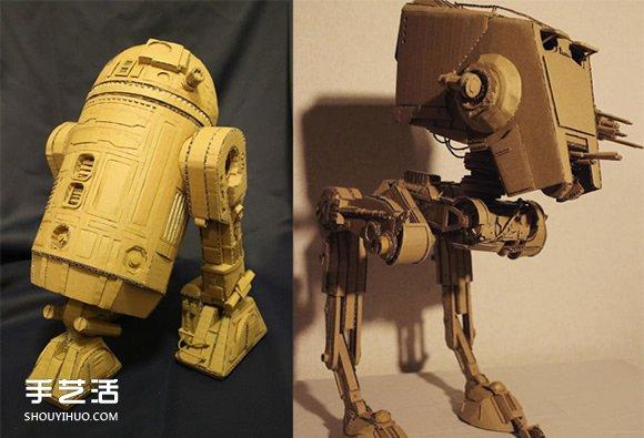起始于课业练习!Ohno的超精致纸箱模型作品 -  www.shouyihuo.com