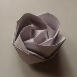 川崎玫瑰折法图解详细 川崎玫瑰折纸步骤教程